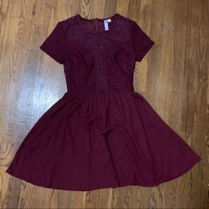 Francesca's Burgundy Dress